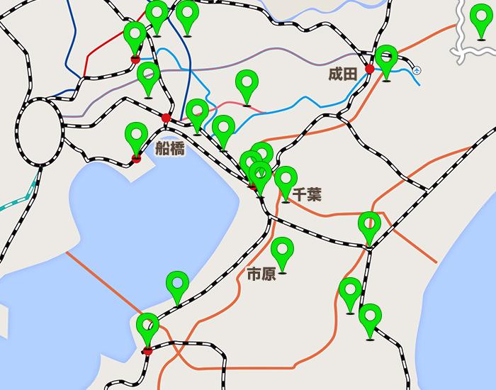 千葉エリアコールマップ
