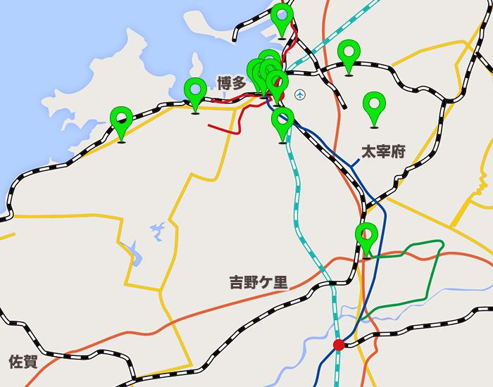 福岡エリアコールマップ