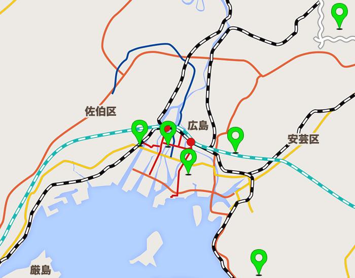 広島エリアコールマップ