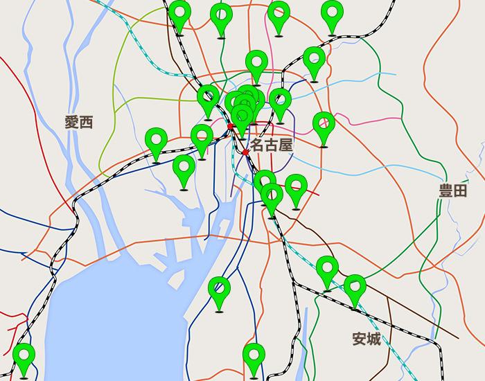 名古屋エリアコールマップ