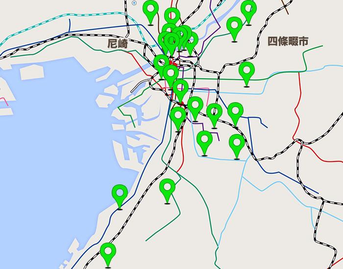 大阪エリアコールマップ