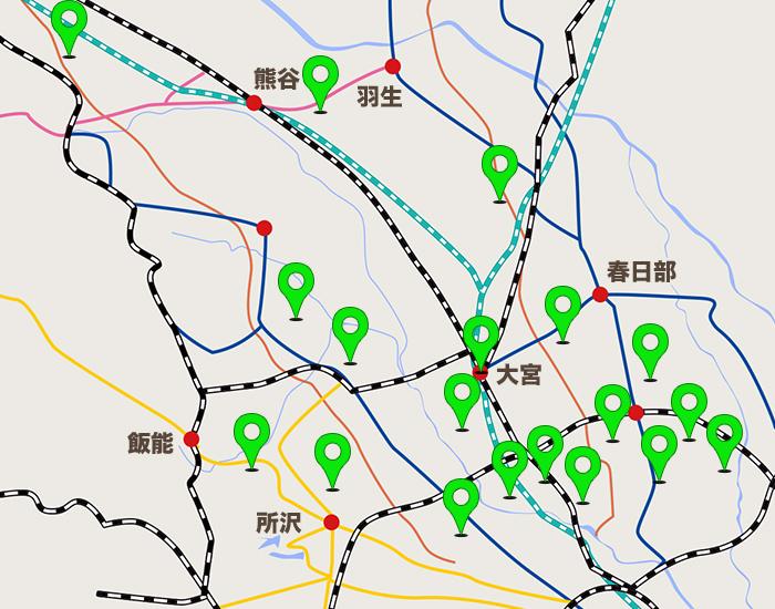 埼玉エリアコールマップ