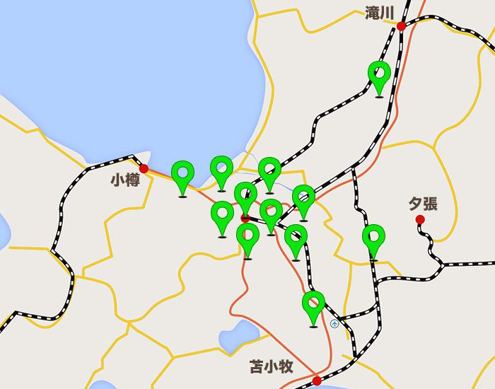 札幌エリアコールマップ