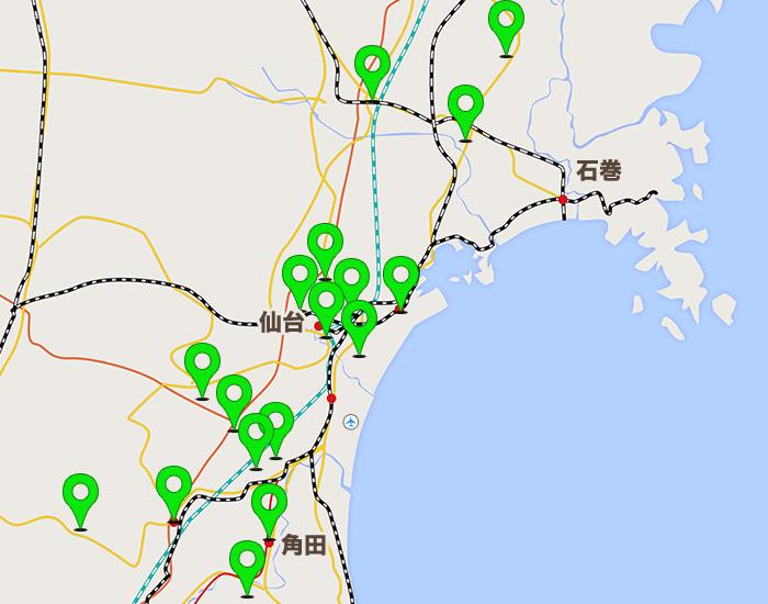 仙台エリアコールマップ